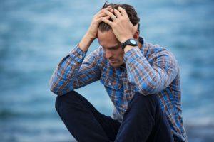 Man with depression and sleep apnea